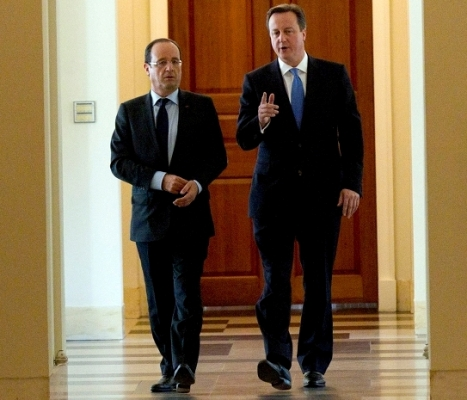 Francois Hollande i David Cameron